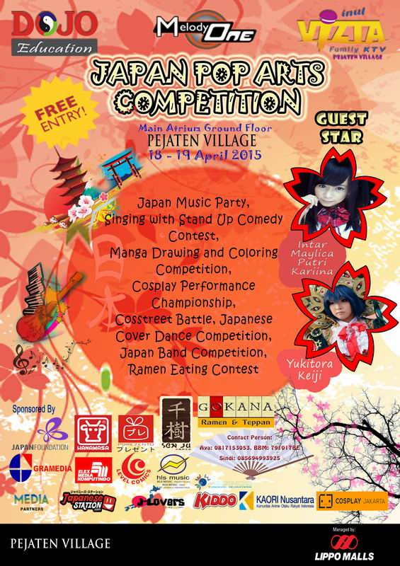 18-19 April 2015 - Japan Pop Arts Competition