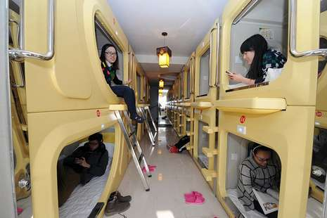 The Space Capsule Hotel di Taiyuan, Tiongkok (Getty Images)