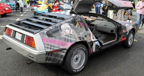 Back to the Future-Delorean-otaku-itasha-anime-car-sticker-japan