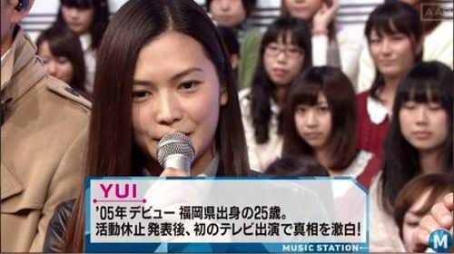 YUI-hiatus-music station-perform-goodbye days-japan