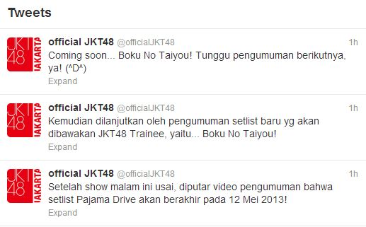 Official JKT48 Tweet