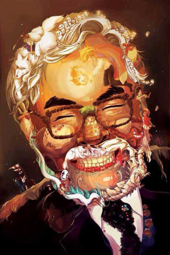can-you-find-your-favorite-ghibli-character-in-this-portrait-of-hayao-miyazaki