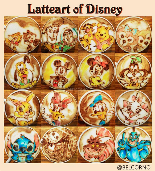 Disney Latte Art