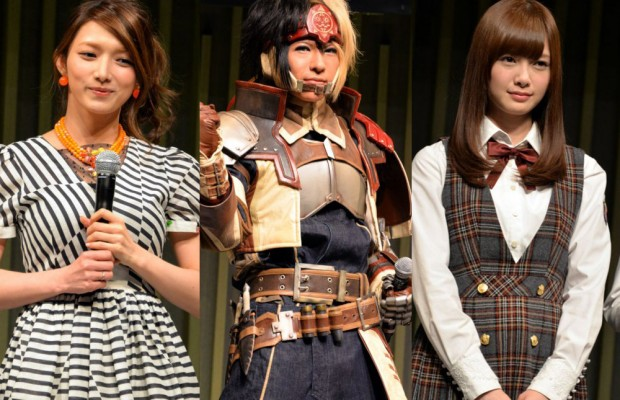Maki-Goto-Nogizaka46-and-Golden-Bomber-Celebrate-the-10th-Anniversary-of-Monster-Hunter-620x400