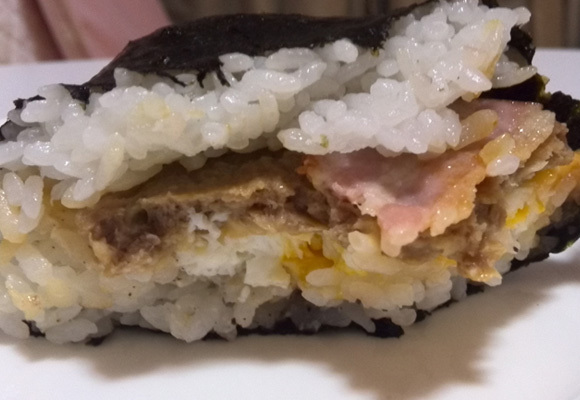 Bakudan Musubi Bacon Cheese Hamburg (7)