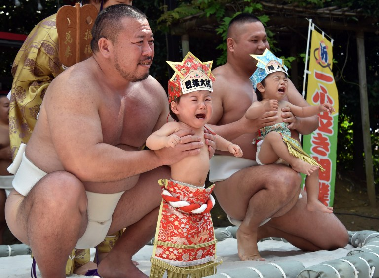 JAPAN-LIFESTYLE-BABY-CRY-SUMO