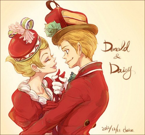 1f donald_and_daisy_by_chacckco-d5nsu5z
