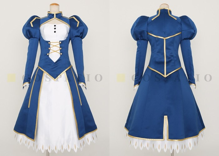 Saber Cosplay Costume joined