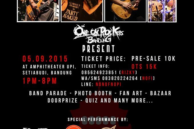 Tribute to ONE OK ROCK by OORer BANDUNG – 5 September 2015