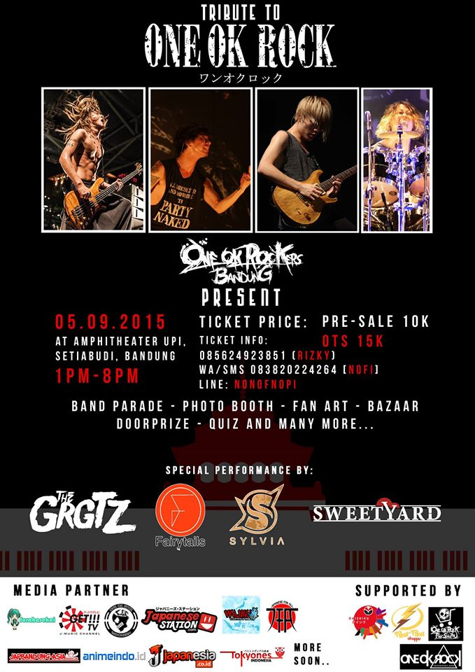 Tribute to ONE OK ROCK by OORer BANDUNG - 5 September 2015