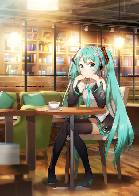 Hatsune Miku Tower Records Cafe 1