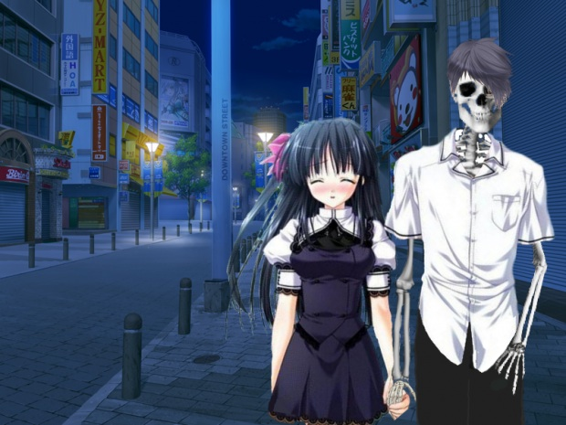 To Love a Skeleton Dating Sim 1