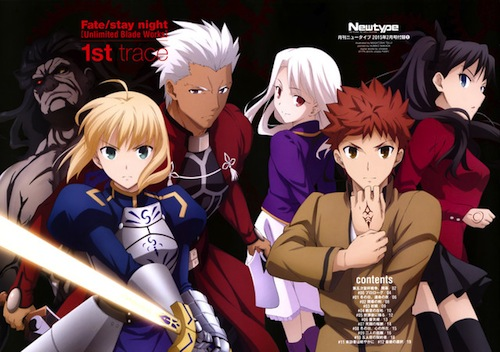 Top 10 Anime Menurut Majalah Newtype Edisi Februari 2016 - fate:stay night unlimited blade works - crunchyroll