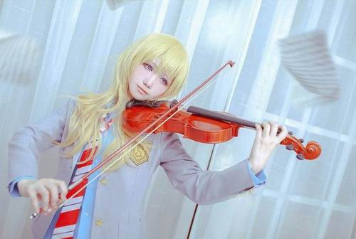 Sugoi! Dua cosplayer ini tampilkan karakter Your Lie in April ke dunia nyata! (1)