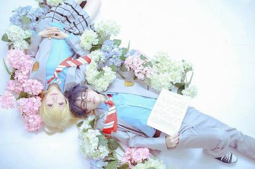 Sugoi! Dua cosplayer ini tampilkan karakter Your Lie in April ke dunia nyata! (4)