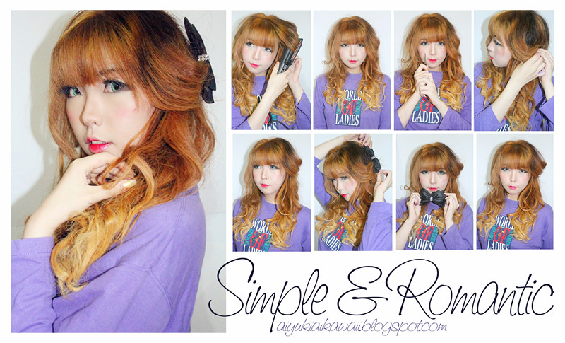 #JSnavigator Aiyuki Aikawa Diary ~ Tutorial Simple & Romantic Hairstyle (1)