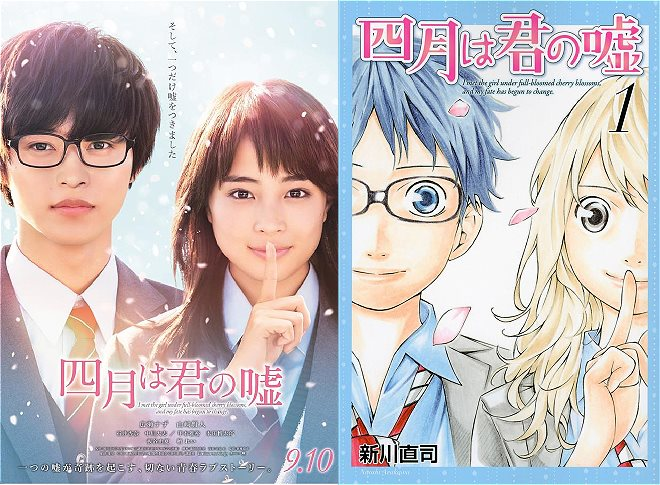 Poster Film Live-Action Your Lie in April Telah Terungkap