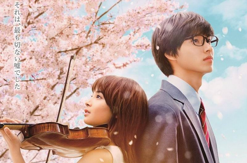 Film Live-Action Your Lie in April Rilis Poster Baru & Foto-foto Adegan