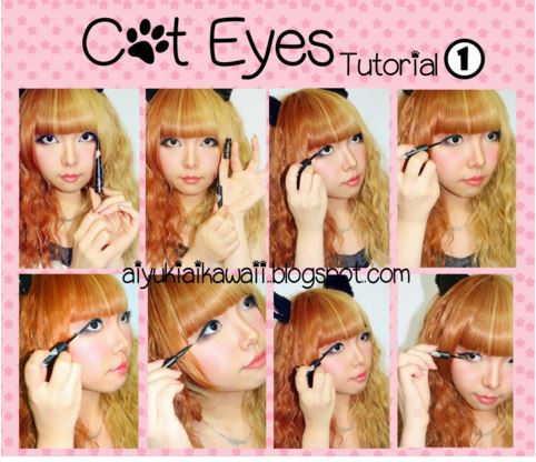 #JSnavigator Aiyuki Aikawa Diary ~ Cat Eyes Tutorial (2)
