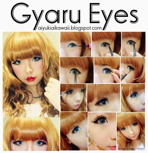 #JSnavigator Aiyuki Aikawa Diary ~ Japanese Gyaru Make-up & Hairstyle Tutorial (25)
