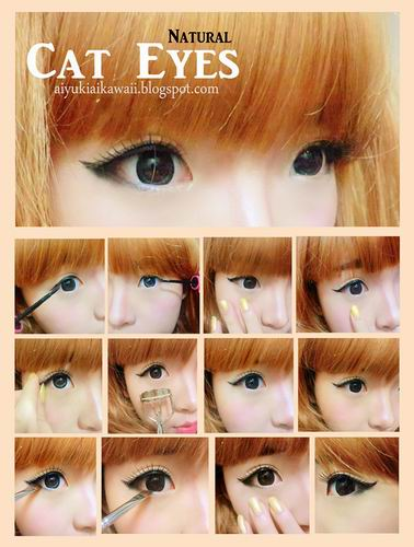 #JSnavigator Aiyuki Aikawa Diary ~ Natural Cat Eyes Tutorial (2)