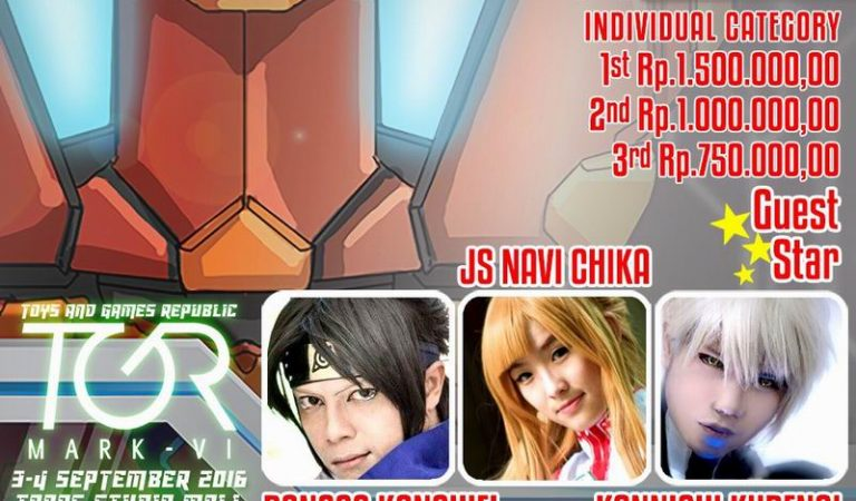 TGR x Japanese Station Cosplay Competition, 3-4 September 2016, Trans Studio Mall Bandung