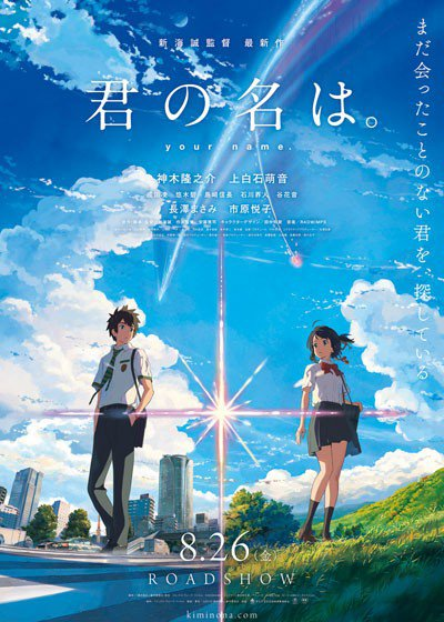 Film Kimi no Na wa garapan Makoto Shinkai Rajai Box Office di Jepang2