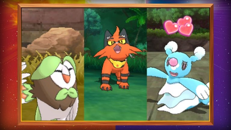 Evolusi starter Pokemon Sun