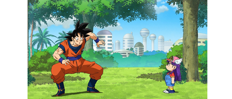 Pertemuan Arale dan Goku di episode 69 Dragon Ball Super (Image: animatetimes.com)