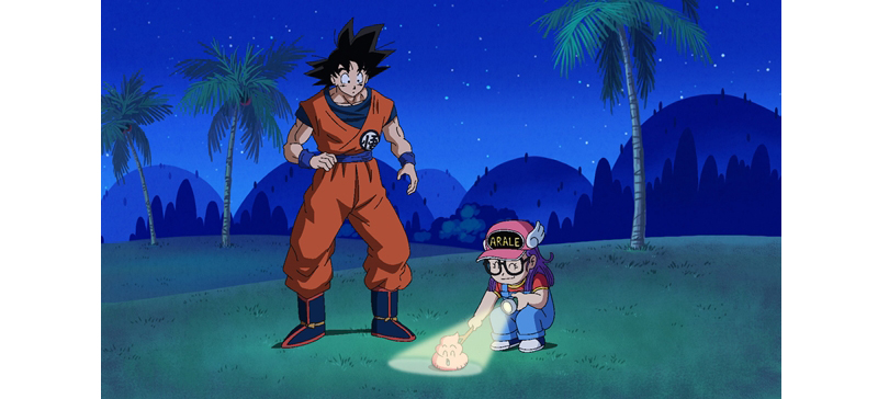 Pertemuan Arale dan Goku di episode 43 Dragon Ball Super (Image: animatetimes.com)