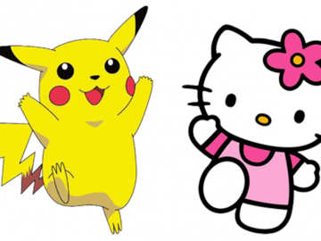 Hello Kitty dan Pikachu
