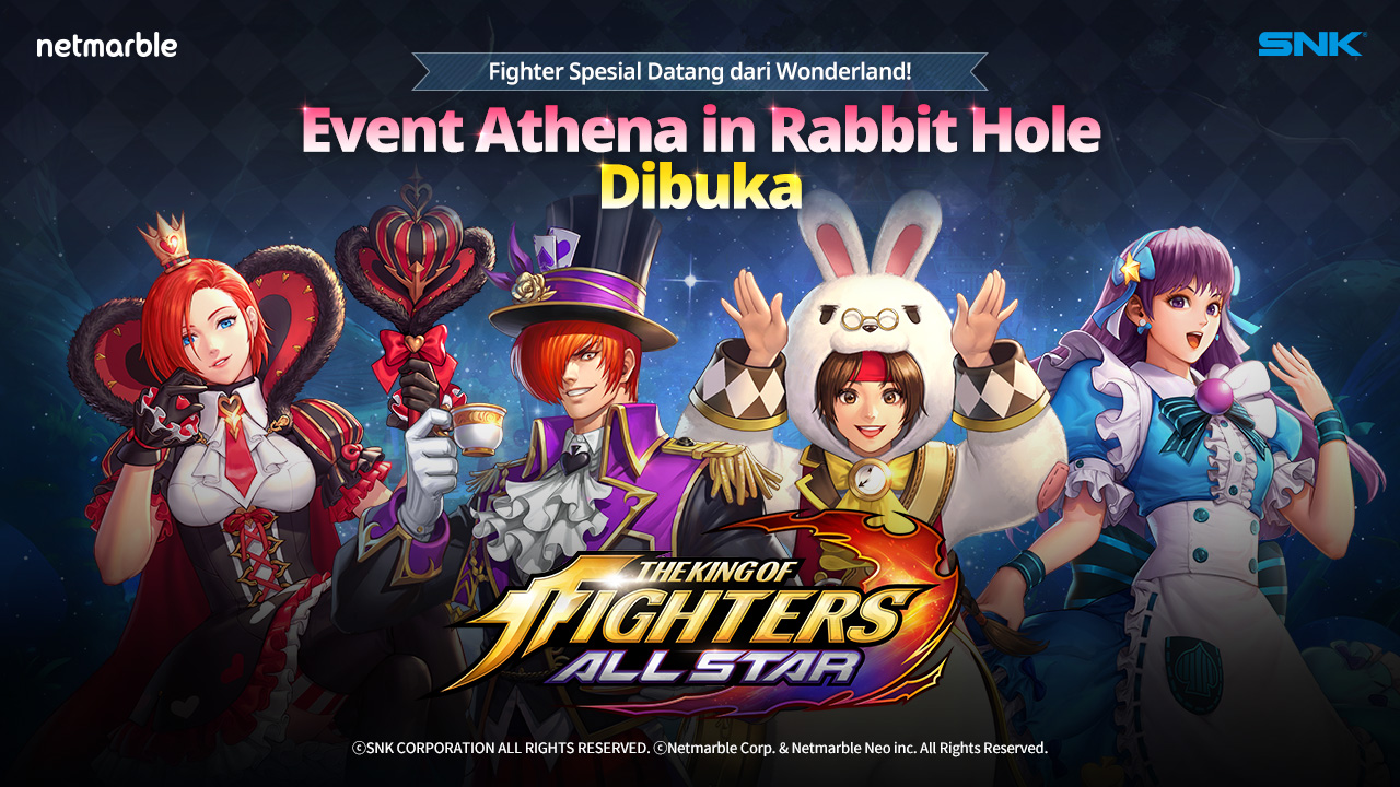 Game 'The King Of Fighter AllStar' Kolaborasi Dengan Alice in Wonderland Pada Update Terbarunya
