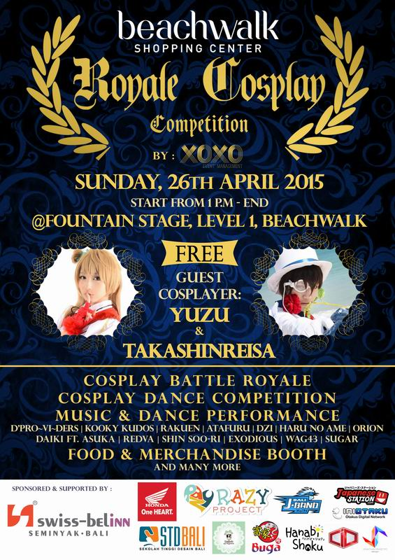 26 April 2015 - Beachwalk Royale Cosplay Competition Bali