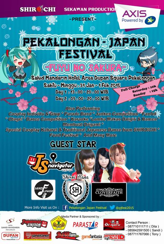 31 Januari-1 Februari - Pekalongan Japan Fest