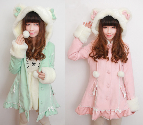 Foto: http://rebloggy.com/post/kawaii-bow-pastel-hello-kitty-hoodies-jacket-japanese-fashion-hime-gyaru-cute-cl/74853195830