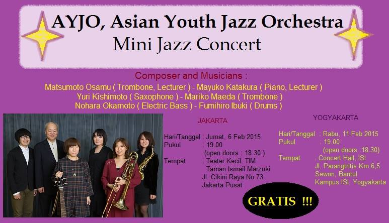 Asian Youth Jazz Orchestra (AYJO) Audition, Lecture and Concert