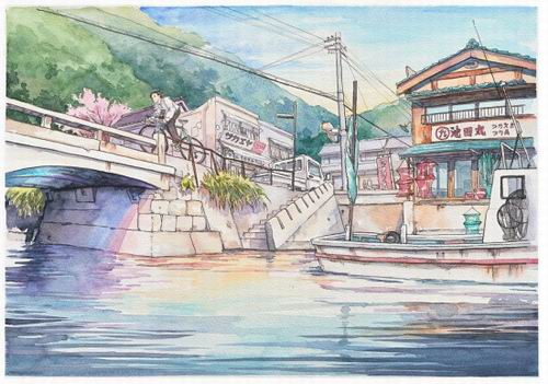 Foreign Artist Nails Modern Japan in Watercolors (13)