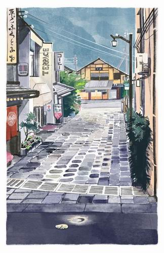 Foreign Artist Nails Modern Japan in Watercolors (15)