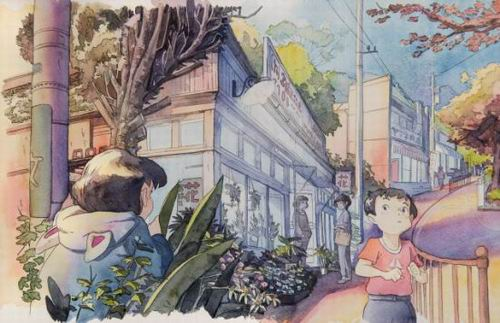 Foreign Artist Nails Modern Japan in Watercolors (9)