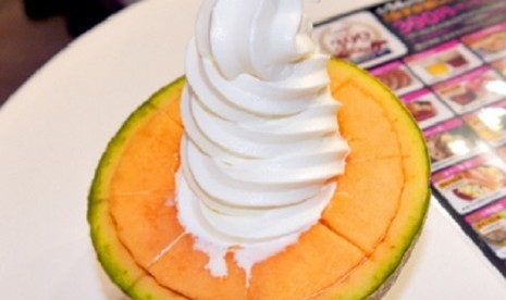 Melon es krim (Rocketnews24)