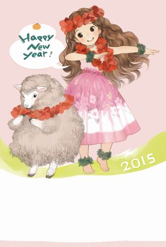 moe nengajo new year postcard (5)